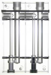 Messzelle, Acryl, 2-Fach, modular erweiterbar, für pH / Redox Elektroden