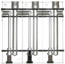 Messzelle, Acryl, 3-Fach, modular erweiterbar, für pH / Redox / Cl Elektroden